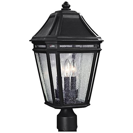 "Feiss Londontowne 19 1/2"" High Black Outdoor Post Light"