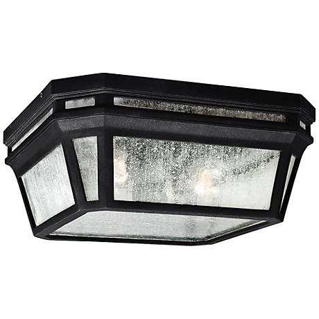 "Feiss Londontowne 11 3/4"" High Black Outdoor Ceiling Light"