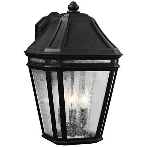 """Feiss Londontowne 16""""H 3-Light Black Outdoor Wall Light"""