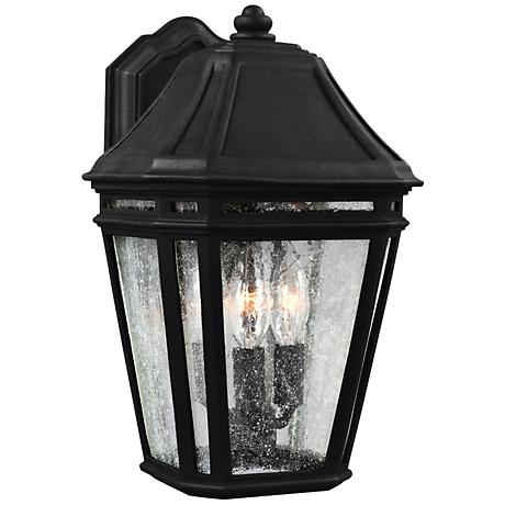 """Feiss Londontowne 13 3/4"""" High Black Outdoor Wall Light"""