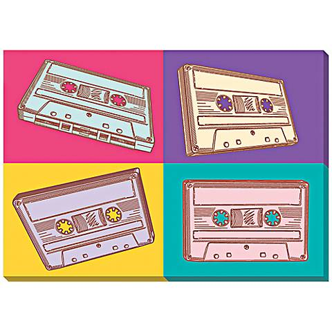 "Audio Cassettes 24"" Wide Canvas Wall Art"