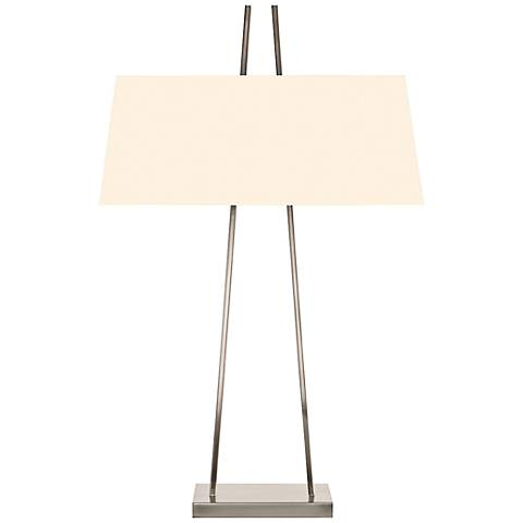 Sonneman A Satin Nickel Modern Table Lamp