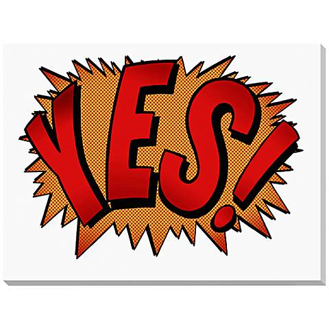 "Yes Explosion 24"" Wide Canvas Wall Art"