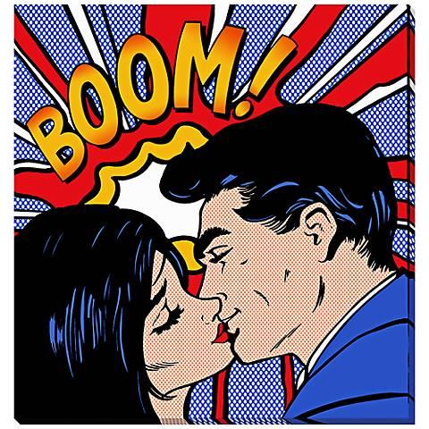 "Boom Explosion 24"" High Canvas Wall Art"