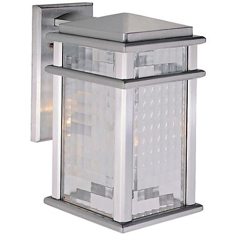 """Mission Lodge 12 1/2""""H Aluminum Outdoor LED Wall Light"""