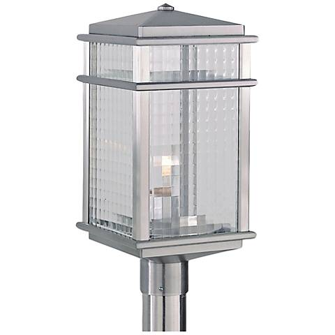 "Mission Lodge 19 1/4""H Aluminum Outdoor LED Post Light"
