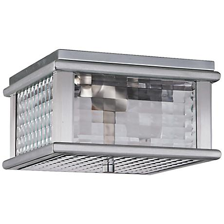 """Mission Lodge 9""""W Aluminum Outdoor LED Ceiling Light"""