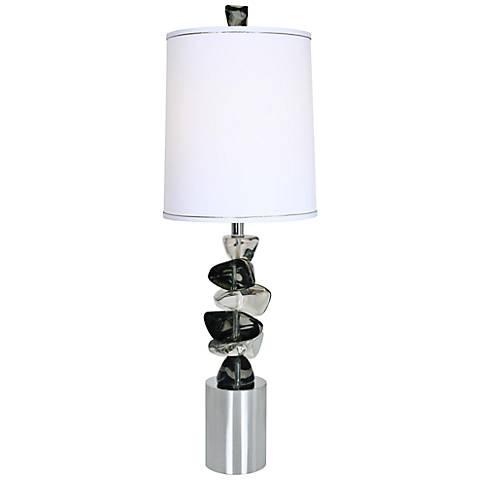 Van Teal Rolling Rock Chrome Table Lamp