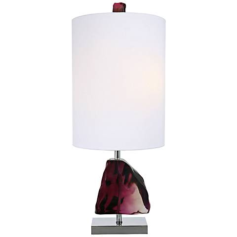 Van Teal Rubelite Gem Malbec Purple Acrylic Table Lamp