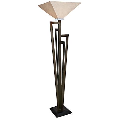 Van Teal Uptown Krypton Gold Torchiere Floor Lamp