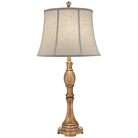Stiffel Royal Maui Polished Honey Brass Metal Table Lamp
