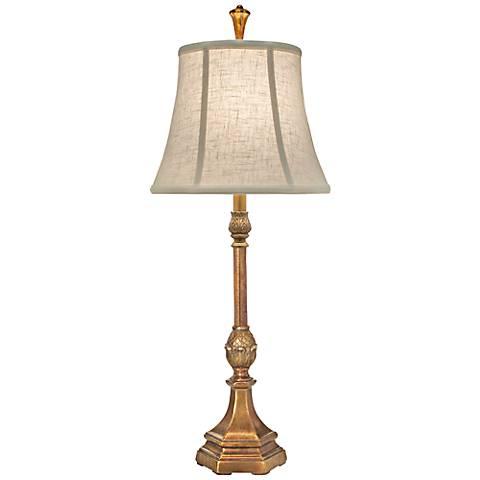 Stiffel Royal Keiki Polished Honey Brass Buffet Table Lamp