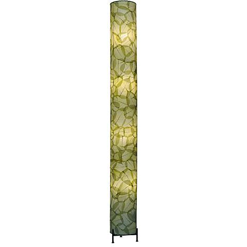 Eangee Banyan Green Cocoa Leaves Giant Tower Floor Lamp