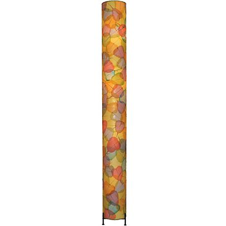 Eangee Banyan Multi-Color Cocoa Leaves Giant Tower Floor Lamp