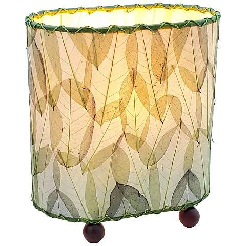 "Eangee 9""H Guyabano Green Mini Uplight Accent Table Lamp"