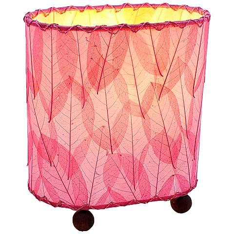 "Eangee 9""H Guyabano Pink Mini Uplight Accent Table Lamp"