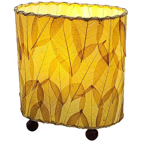 """Eangee 9""""H Guyabano Natural Mini Uplight Accent Table Lamp"""