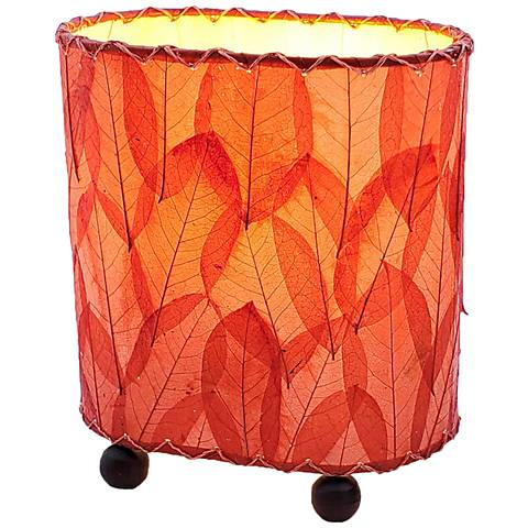 "Eangee 9""H Guyabano Red Mini Uplight Accent Table Lamp"