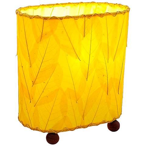 "Eangee 9""H Guyabano Yellow Mini Uplight Accent Table Lamp"