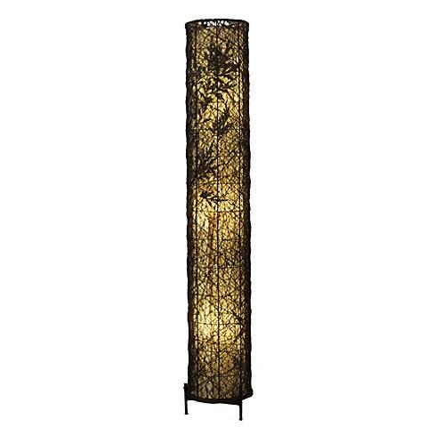 Eangee Shadow Fern Natural Large Tower Floor Lamp