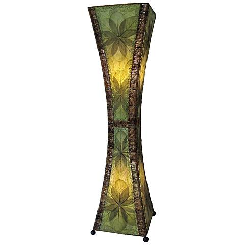 Eangee Hour Glass Green Large Tower Floor Lamp
