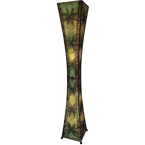 Eangee Hour Glass Green Giant Tower Floor Lamp