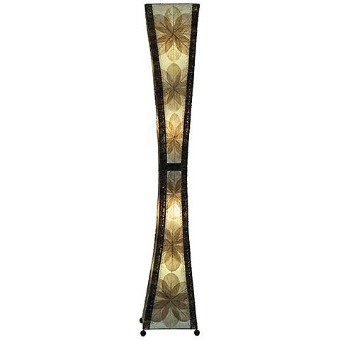 Eangee Hour Glass Natural Giant Tower Floor Lamp