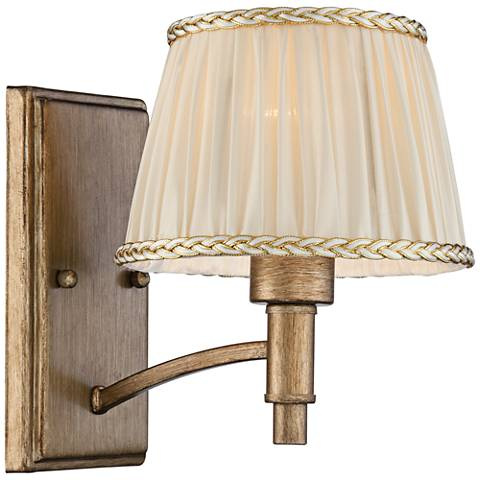 "Grenada 9"" High Cream Pleated Shade Wall Sconce"