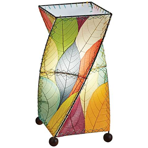 Eangee Twist Multi-Color Cocoa Leaves Uplight Table Lamp