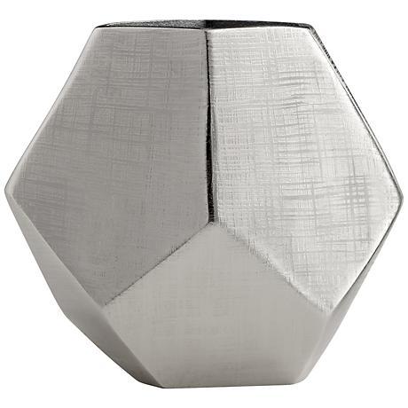 """Celcus 11"""" Wide Textured Bronze Vase"""