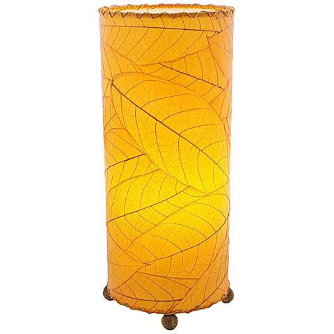Eangee Cylinder Orange Cocoa Leaves Uplight Table Lamp