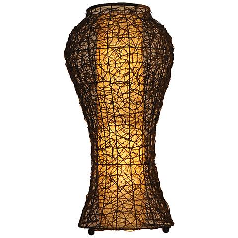 Eangee Nito Natural Vine Urn Floor Lamp