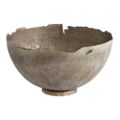 Pompeii Medium White Wash Iron Bowl