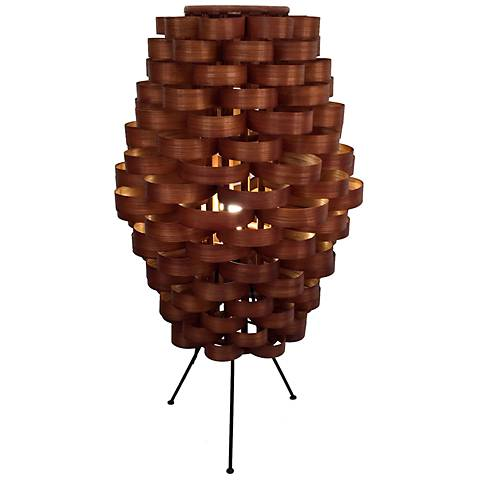 "Eangee Weave Slat 28"" High Bamboo Table Lamp"