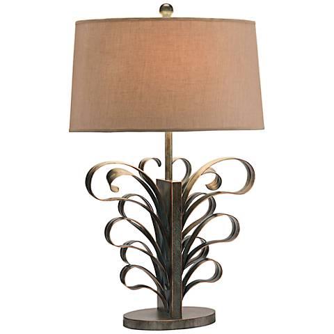 John Richard Bronze Hand-Forged Iron Table Lamp