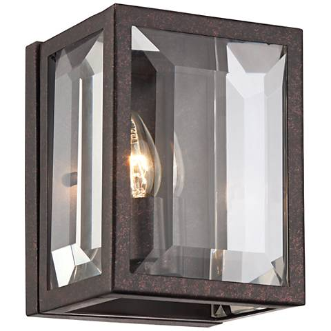 "Lyla Dust Bronze 8 1/4"" High Clear Glass Wall Sconce"
