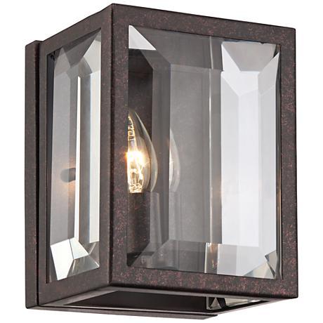 "Lyla Dust Bronze 8 1/4"" High Clear Glass Wall Sconce"
