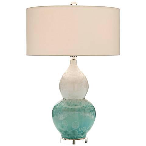 John Richard Elsa Crystalized Glazed Ceramic Table Lamp