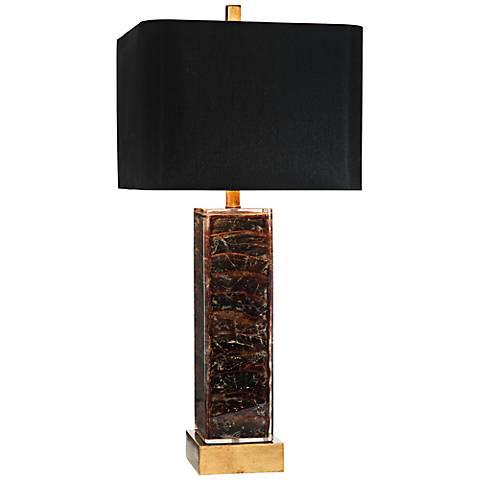 John Richard Amaranthine Purple Mother of Pearl Table Lamp
