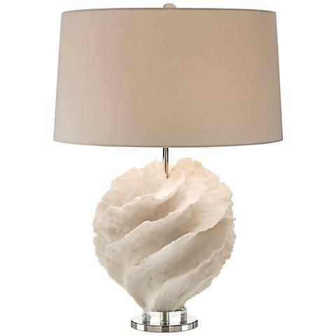 John Richard Rustic Spiral Off-White Table Lamp