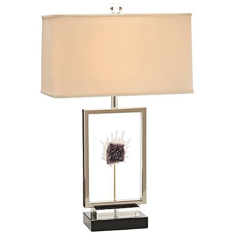 John Richard Crystal Window Amethyst Geode Table Lamp