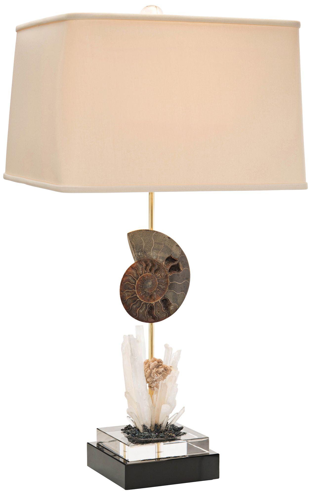 John Richard Ammonite Crystal Buffet Table Lamp