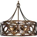 "Uttermost Antrim 21"" Wide Bronze 4-Light Pendant"