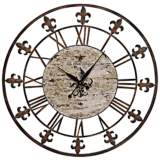 "Chartres Rusted Iron 36"" Round Wall Clock"