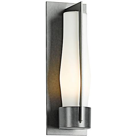 "Harbor 15 1/2"" High Burnished Steel Outdoor Wall Light"