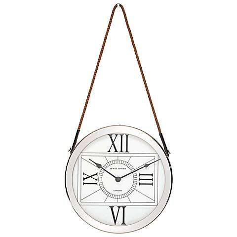 "Brigham Stainless Steel 16"" Round Wall Clock"