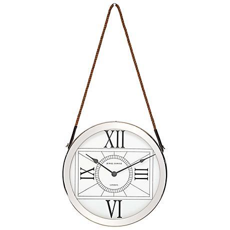 "Brigham Stainless Steel 16"" Round Wall Clock"