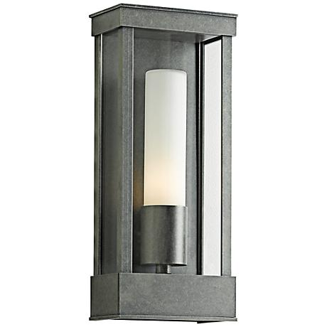 """Portico 14 3/4"""" High Burnished Steel Outdoor Wall Light"""