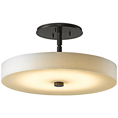 "Disq 15"" Wide Dark Smoke LED Ceiling Light"