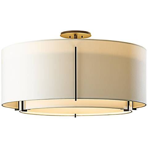 "Exos 29 1/4"" Wide Dark Smoke Ceiling Light"
